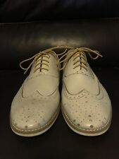 Steve Madden New Mens Oxford Wing tip Shoes 11.5 Beige LeatherShoes