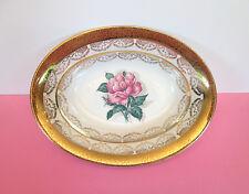 """Princess Rose""  Serving Bowl, Real Translucent China, 22Kt. Gold"
