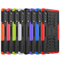 Shockproof Rugged Slim Hybrid Armor Hard Case Kickstand Skin Cover For LG Velvet