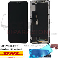TOUCH SCREEN LCD DISPLAY TFT PER APPLE IPHONE X 10 VETRO FRAME SCHERMO RICAMBIO