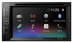 Pioneer AVH-A240DAB Doppel-DIN CD/DVD/MP3-Autoradio Touchscreen DAB Bluetooth US