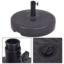 "Round 50lb Water Plastic Umbrella Base Recyclable Patio 20"" Umbrella Stand Hold"