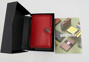 Secrid Wallet - Card Protector, Boxed, New, Red Leather, Small