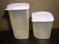 Lot of 2 Tupperware FRESH N COOL CONTAINERS 5058 5057 Blueberry Mist + LIDS 5059
