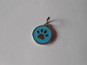 Hundeplakette - Pfötchen - blau, inkl. Gravur