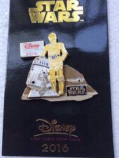 Disney Parks Chase Visa Cardmembers 2016 STAR WARS C-3PO Pin C3PO R2-D2  NEW