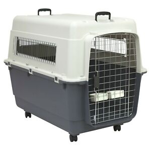 Travel Kennel XXL Extra Large Big Oversized Crate Dog Plastic Pet Carrier Caster