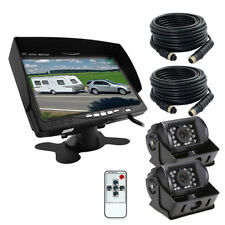 "2x CCD IR Rear View Back up Camera Night Vision + 7""Monitor for RC Truck Bus Van"