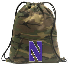 Northwestern Cinch Pack Backpack COOL CAMO NU Wildcats Bags