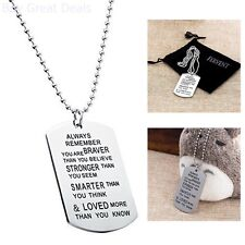You Are Loved) Inspiration Dogtag New Love Necklace / Dog Tag (Always Remember
