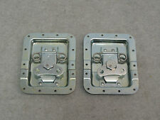 "Two Large 6.25""X5"" Butterfly Latches (Split Dish) , Flight / Road Case Hardware"