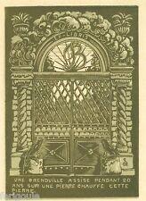 EX-LIBRIS de Jean BOURGUIGNON par Robert Saldo.