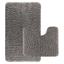 Luxury 2pcs Bath Mat Sets Non Slip Water Absorbent Bathroom Rugs