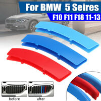3pcs Grille M Sport Kidney Grill Cover Decal Strip Clip For BMW 5 Series F10