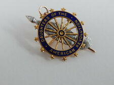DAUGHTERS OF THE AMERICAN REVOLUTION Old 14k LG INSIGNIA BADGE  DAR #81414