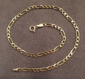 9ct Gold Anklet  - Gift Boxed - Hallmarked - Ankle Bracelet - Solid 9ct Gold