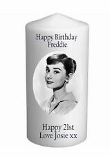 Cellini Candles Audrey Hepburn Birthday Unique  Personalised Gift Card #1