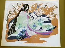 Vintage Signed Miharu Lane 'Sounds Of Spring' Asian Framed Print