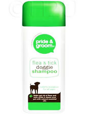 400ml  Pride & Groom Flea Tick Doggie Shampoo Natural Oil Conditioning Dog Puppy