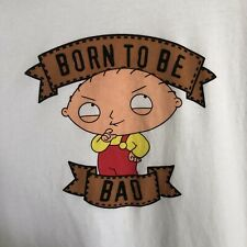 Family Guy Stewie Graphic TShirt White Contrast Trim Men's Size XXL 100% Cotton