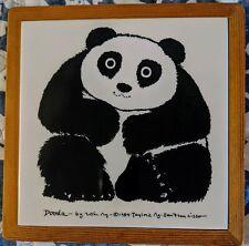 Vintage Dooda Panda 1984 Ceramic Tile Trivet Taylor & Win NG RARE