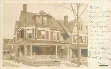 1907 Newark New Jersey Residence Home Street RPPC real photo 5898