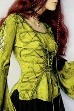 Gothic Mittelalter Top Bluse Kyrana Antik - grün  Schnürung bestickt 36 38 40