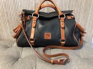 Authentic DOONEY & BOURKE FLORENTINE Black Leather Tote Crossbody Bag