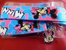 Disney Minnie Mouse lanyard, charm & ID holder Bus pass/keys/neck strap/gift