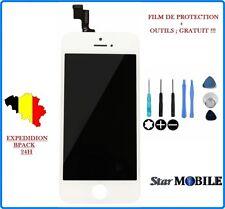 VITRE TACTILE POUR IPHONE 5S BLANC 1ère QUALITE + ECRAN LCD SUR CHASSIS + OUTILS