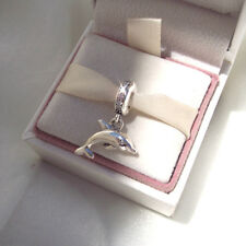 Genuine Pandora PLAYFUL DOLPHIN Fish Silver Pendant Charm Dangle Authentic