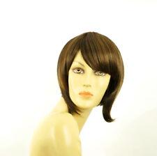 Parrucca donna corta cioccolato mechato rame : CAROLE 627c