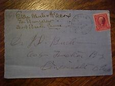 Ella Wheeler Wilcox Signature On Personal Envelope The Bungalow Short Beach Ct.