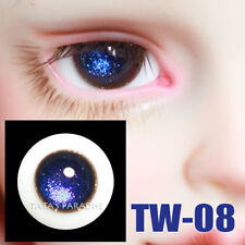 TATA glass eyes TW-08 14mm/16mm for BJD SD MSD 1/3 1/4 size doll use deep blue