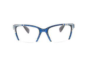 Vintage Semi Rimless Reading Glasses Made With Swarovski Crystals