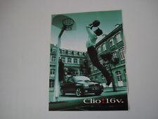 advertising Pubblicità 1995 RENAULT CLIO 16V