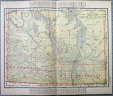 Original 1902 Map of Manitoba by Rand McNally