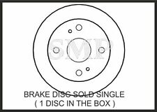REAR  BRAKE DISCS FOR TOYOTA COROLLA  COUPE 1.6GT 16V (AE86) FROM 1983 - 1987