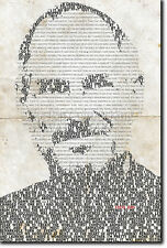 Steve Jobs tipográfica Cartel única impresión de arte Foto De Regalo