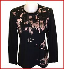 Women's Oakley L/s Pixel Camo Stretch T Shirt Large Black Regular Fit Uk14