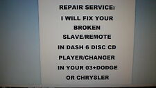 Repair Service Only:6 Disc Cd Player/Changer 02+Chrysler Town&Country(No Radio)