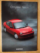 CHRYSLER Neon prestige UK market brochure 1996