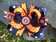 AUBURN POLKA DOT GIRLS BOTTLECAP HAIRBOW