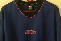 New York Knicks NIKE NBA Basketball Long-Sleeve Pullover; Size XL