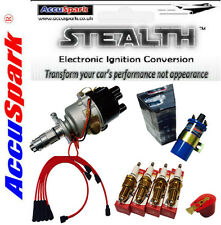 MG Midget 1500 electronic ignition distributor kit/Red HT/blue sports Coil/AC12C