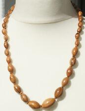 "Halskette aus handgefertigtem Olivenholz ""255"" Schmuck Kette Natur Perlenkette"