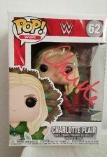 CHARLOTTE FLAIR WWE DIVA WOOOO SIGNED AUTOGRAPH FUNKO POP FIGURE JSA COA