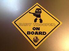 """Bébé à Bord Star Wars bébé Trooper à bord """"Imperméable Vinyle Autocollant Voiture"""