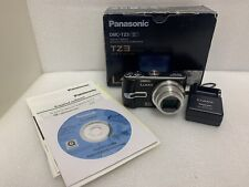 Panasonic LUMIX DMC-TZ3 7.2MP Digital Camera - Black With Box, Charger