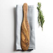 Rustic Olive Wood Pancake Spatula - length 29cm